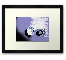 Cup and ashtray Framed Print