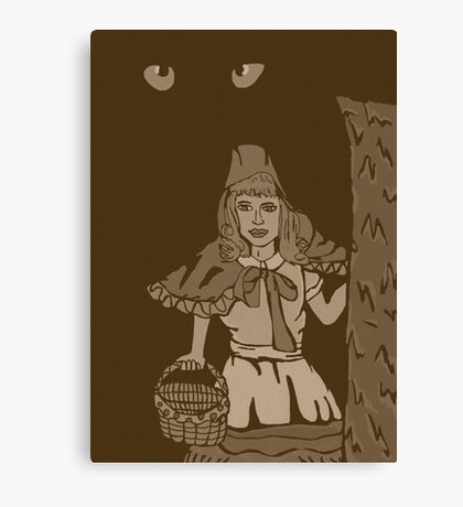 Little red riding hood vintage Canvas Print