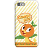 Little Orange Bird stripes iPhone Case/Skin