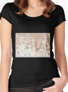 Performing Arts Posters Over the fence by Owen Davis 1135 Women's Fitted Scoop T-Shirt