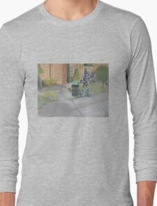 Landscape with Robot 2 Long Sleeve T-Shirt