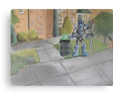 Landscape with Robot 2 Canvas Print
