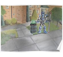 Landscape with Robot 2 Poster