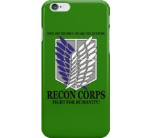 Recon Corps - Attack On Titan iPhone Case/Skin