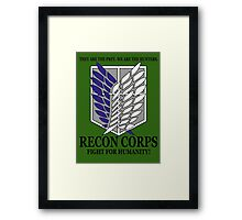 Recon Corps - Attack On Titan Framed Print