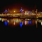 fremantle fishing boat harbour night by Elliot62
