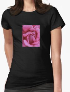 Dusky Pink Rose Macro Womens Fitted T-Shirt
