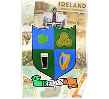 Coat Of Arms - Ireland - Shield and Sword Poster