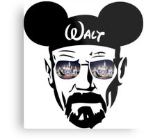 Walter White Lit-up Castle Metal Print