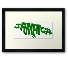 Jamaica Green Framed Print