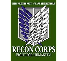 Recon Corps - Attack On Titan Photographic Print