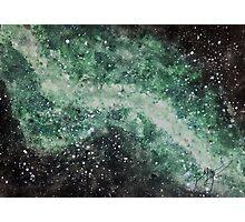 Little Green Galaxy Photographic Print