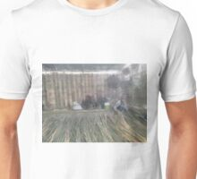 Workers preparing bamboo sections Unisex T-Shirt