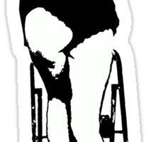 sexy girl stencil Sticker