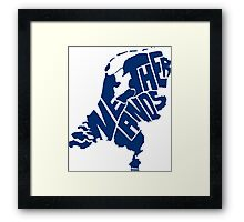 Netherlands Blue Framed Print