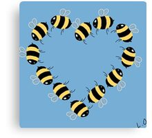 Bee hearty! Canvas Print