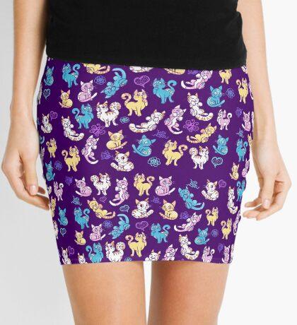 Colourful Kitty cat pattern Mini Skirt