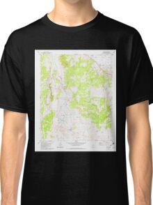 USGS TOPO Map Arizona AZ Hunt 311857 1982 24000 Classic T-Shirt