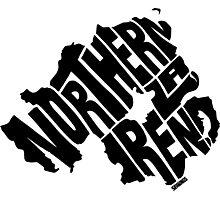 Northern Ireland Black Photographic Print