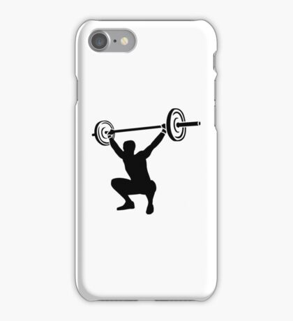Weightlifting sports iPhone Case/Skin