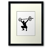 Weightlifting sports Framed Print