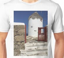 Windmill, Island Myconos, Greece Unisex T-Shirt