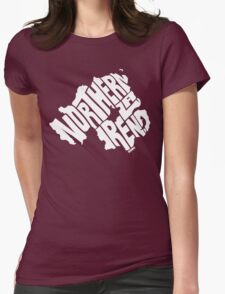 Northern Ireland White Womens Fitted T-Shirt