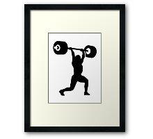 Weightlifting weightlifter Framed Print