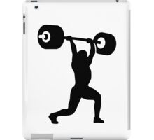 Weightlifting weightlifter iPad Case/Skin
