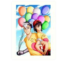 Hearts and Balloons Art Print