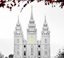Christmas at Temple Square by LaRae55