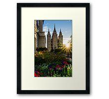 Starburst SLC LDS Temple Framed Print