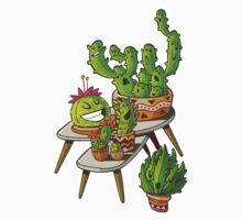 cacti interior outline Kids Tee