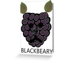 BlackBeary Greeting Card