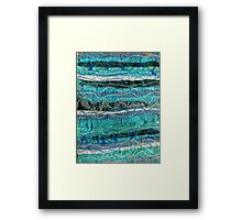 Blue Abstract Textile Art Framed Print