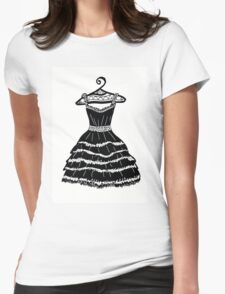 Black dress Womens Fitted T-Shirt