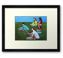 Plein Air Exercises Framed Print