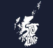 Scotland White Kids Tee