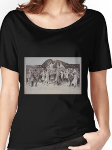 Performing Arts Posters Woman draped in flag carried by women in Roman costume surrounded by crowds 2971 Women's Relaxed Fit T-Shirt