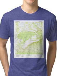 USGS TOPO Map Arizona AZ Hay Lake 311694 1970 24000 Tri-blend T-Shirt