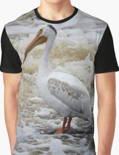 American White Pelican Graphic T-Shirt