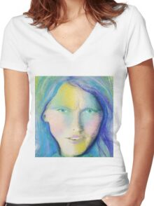 """Perplexed"" Women's Fitted V-Neck T-Shirt"