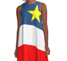 Acadian Flag - Drapeau acadien A-Line Dress