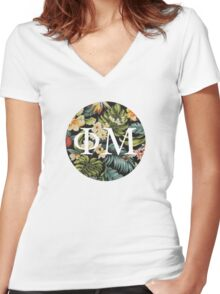 Phi Sticker Women's Fitted V-Neck T-Shirt