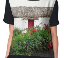 Abandoned Cottage, Inishowen Peninsular, Donegal, Ireland Chiffon Top