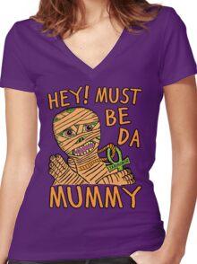 Da Mummy Women's Fitted V-Neck T-Shirt