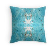 Marbled Reflections Throw Pillow