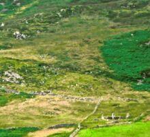 Sunlit Field - Inishowen Peninsular, Donegal, Ireland Sticker