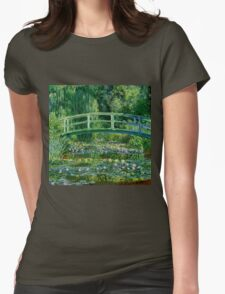 Water lilies, Claude Monet,beautiful vintage impressionist art Womens Fitted T-Shirt