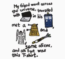 Tourist Doctor Who Tee 2 Kids Tee